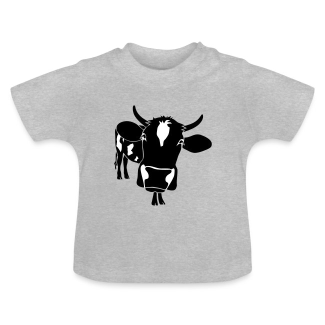 kuh rind muh milch bauer farm alm heidi fleckvieh  lila cow Baby T-Shirts