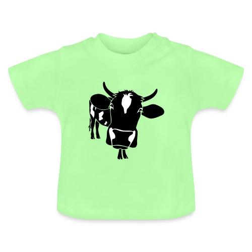 kuh rind muh milch bauer farm alm heidi fleckvieh  lila cow Baby T-Shirts - Baby T-Shirt