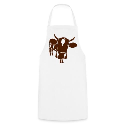 kuh rind muh milch bauer farm alm heidi fleckvieh  lila cow Schürzen - Kochschürze