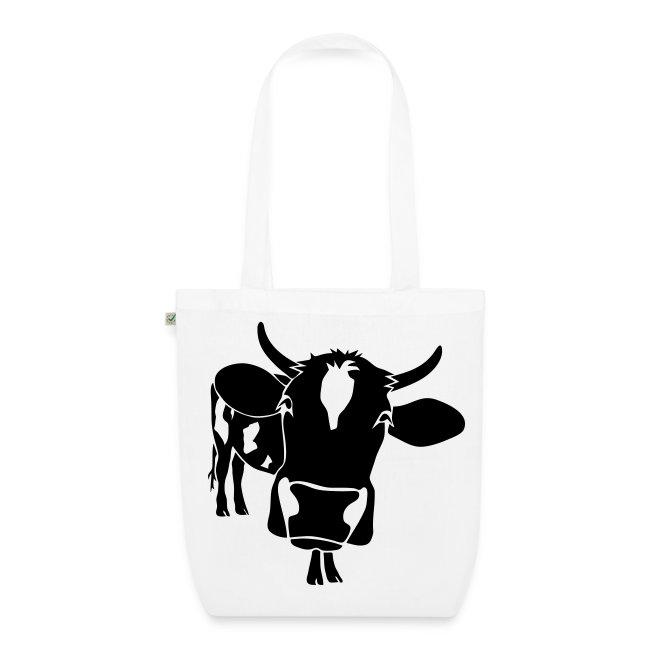 kuh rind muh milch bauer farm alm heidi fleckvieh  lila cow Taschen