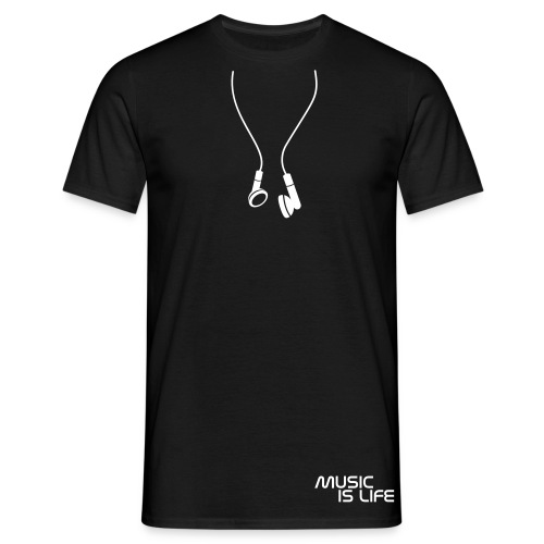 Music Is Life - Headphones - Maglietta da uomo