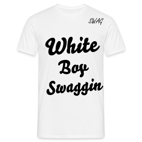 White Boy Swaggin T-Shirt HOMME - T-shirt Homme