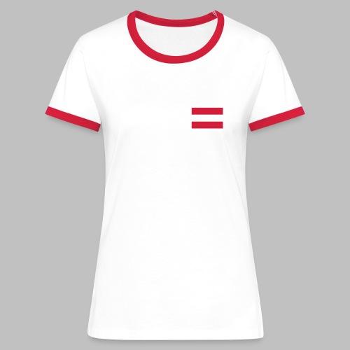 Österreich (Flagge auf Brust) - Frauen Kontrast-Shirt - Frauen Kontrast-T-Shirt