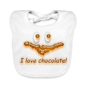 I love chocolate! - Baby Bio-Lätzchen