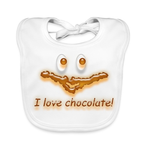 I love chocolate! - Baby Bio-Lätzchen