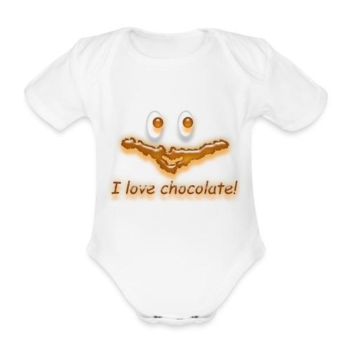 I love chocolate! - Baby Bio-Kurzarm-Body