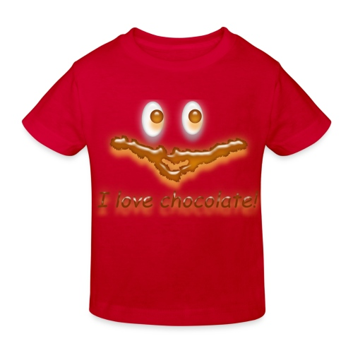 I love chocolate! - Kinder Bio-T-Shirt