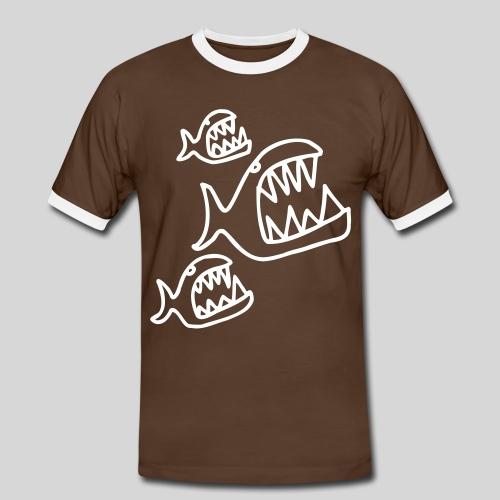 piranhas - Männer Kontrast-T-Shirt
