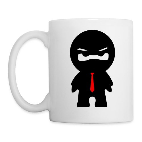 Ninja mit roter Krawatte - Tasse