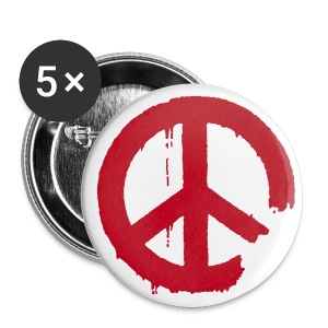 PEACE - Buttons groß 56 mm