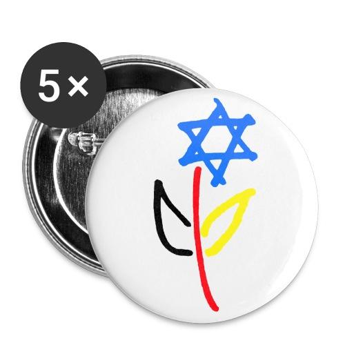 Deutsch Israelische Freundschaft - Buttons groß 56 mm