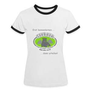 Frauen Kontrast-Shirt, Logo & Text - Frauen Kontrast-T-Shirt