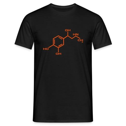 ADRENALIINI musta/oranssi - Miesten t-paita