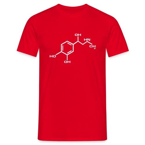 ADRENALIINI punainen/valkoinen - Miesten t-paita