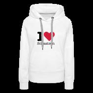 Sweaters ~ Vrouwen Premium hoodie ~ I Love Schaatsen Sweater