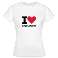 T-shirts ~ Vrouwen T-shirt ~ I Love Schaatsen Shirt
