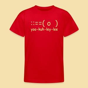 Kidshirt: yoo-kuh-ley-lee (Motiv: beige) - Teenager T-Shirt