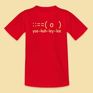 Kidshirt: yoo-kuh-ley-lee (Motiv: beige) - Teenager T-Shirt