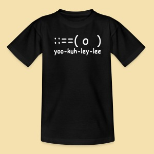 Kidshirt: yoo-kuh-ley-lee (Motiv: weiß) - Teenager T-Shirt