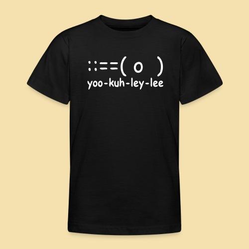 Kidshirt: yoo-kuh-ley-lee (Motiv: weiß) - Teenager T-Shirt
