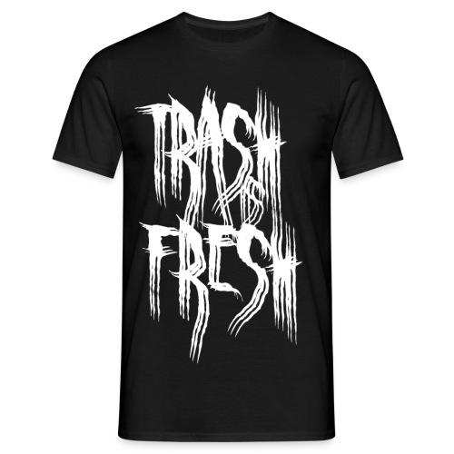 Trash is Fresh Boy Logo White - Männer T-Shirt
