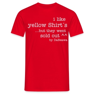 i like yellow Shirt´s - Männer T-Shirt