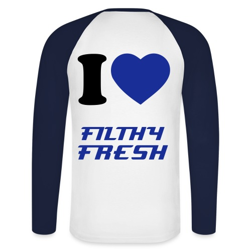 FILTHY FIRST - Men's Long Sleeve Baseball T-Shirt