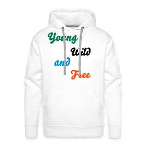 Mannensweater met capuchon - Young, Wild and Free - Mannen Premium hoodie