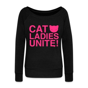 Cat Ladies Unite! - Women's Boat Neck Long Sleeve Top