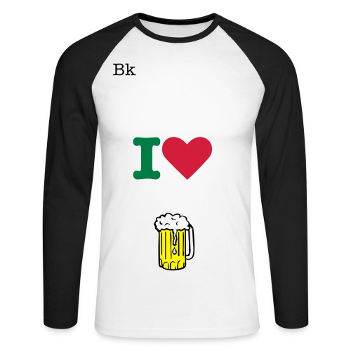 I'love bière - T-shirt baseball manches longues Homme