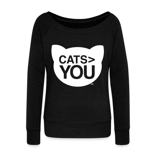 Cats - You - Women's Boat Neck Long Sleeve Top