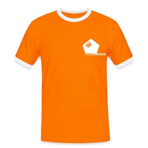 Oranje Fanshirt - Männer Kontrast-T-Shirt