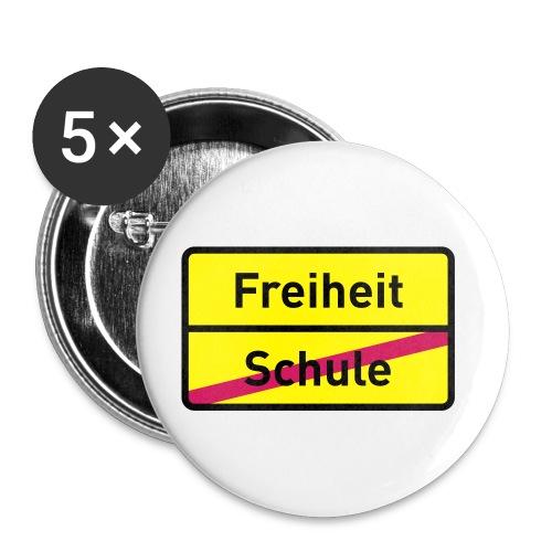 Button Schulfrei - Buttons klein 25 mm (5er Pack)