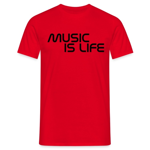 Music Is Life - Male T-Shirt - Men's T-Shirt