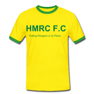 T-Shirts ~ Men's Ringer Shirt ~ HMRC Yellow Tee