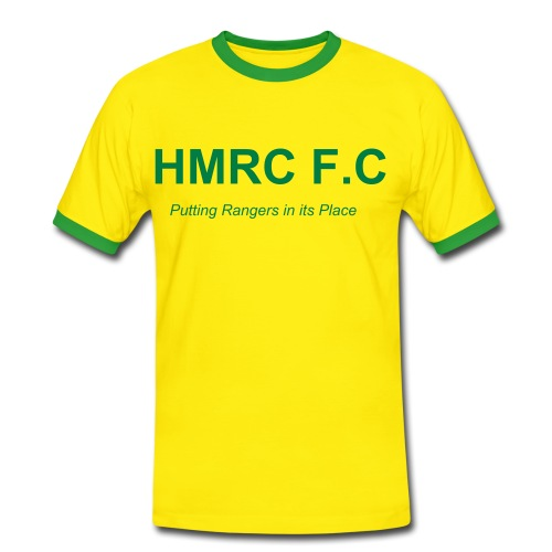 HMRC Yellow Tee - Men's Ringer Shirt