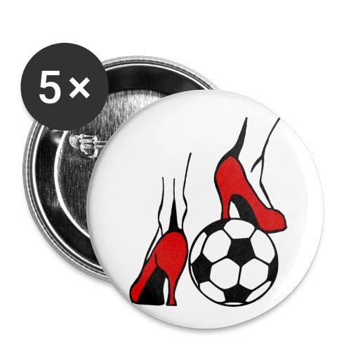 Frauenfussball - Buttons groß 56 mm