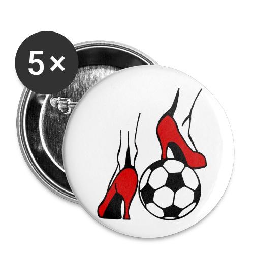 Frauenfussball - Buttons mittel 32 mm