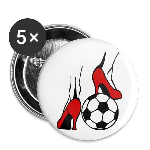 Frauenfussball - Buttons klein 25 mm