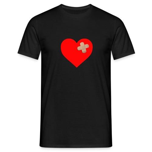Corazón con tirita - Camiseta hombre