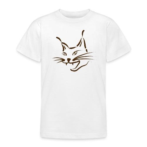 luchs BRAUN lynx cougar  katze wild Kinder T-Shirts - Teenager T-Shirt