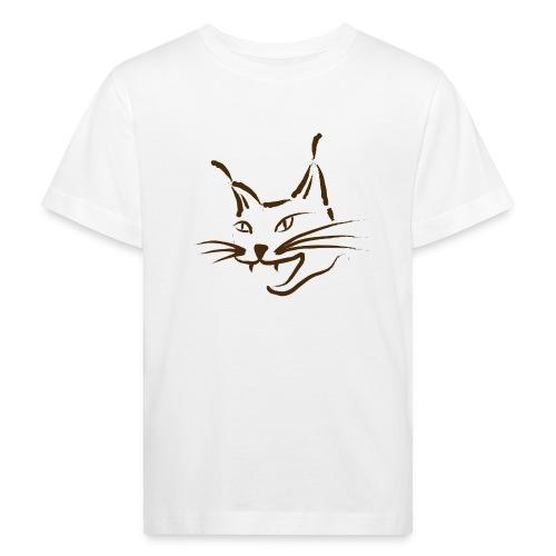 luchs BRAUN lynx cougar  katze wild Kinder T-Shirts - Kinder Bio-T-Shirt