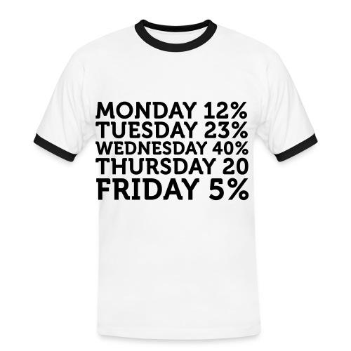 100% T-SHIRT - Men's Ringer Shirt