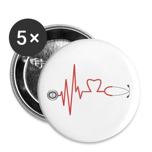 Stethoheart - Buttons klein 25 mm (5er Pack)