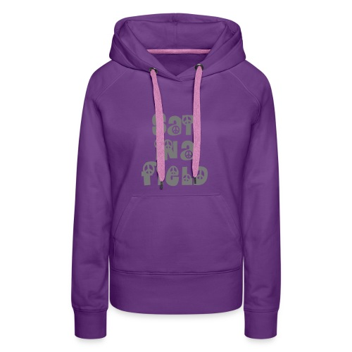 Women's Premium Hoodie - - Signature Sat In A Field chest logo