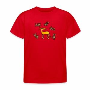 Galgo und Hasen bunt - Kinder T-Shirt