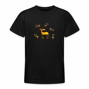Galgo und Hasen bunt - Teenager T-Shirt