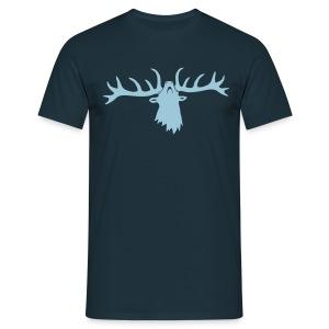 tiershirt t-shirt hirsch röhrender brunft geweih elch stag antler jäger junggesellenabschied - Männer T-Shirt