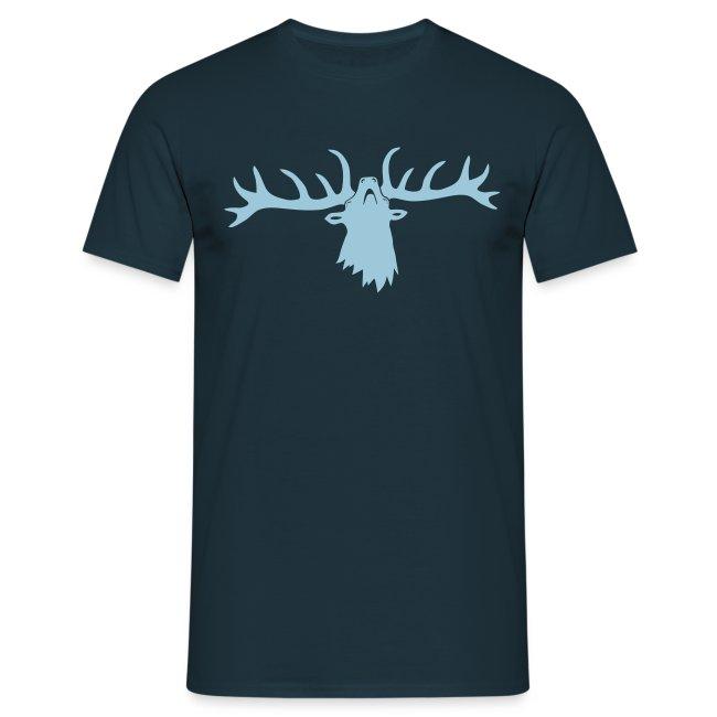 tiershirt t-shirt hirsch röhrender brunft geweih elch stag antler jäger junggesellenabschied