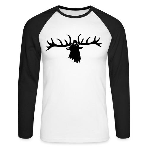 tiershirt t-shirt hirsch röhrender brunft geweih elch stag antler jäger junggesellenabschied - Männer Baseballshirt langarm